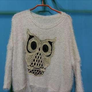 貓頭鷹 毛衣