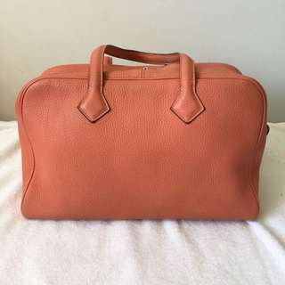 Authentic Hermes 35 Victoria II L5 Clemence Bag