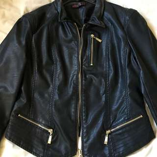 Ally Faux Leather Jacket