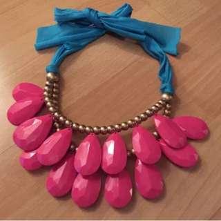 Ladies Pink Fashion Necklace