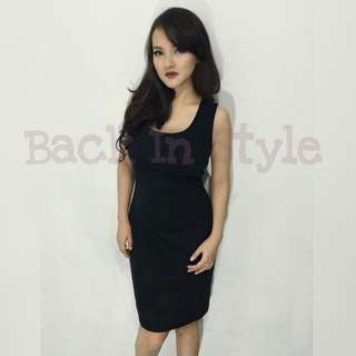 Dress Hitam Rope Brandnew Original