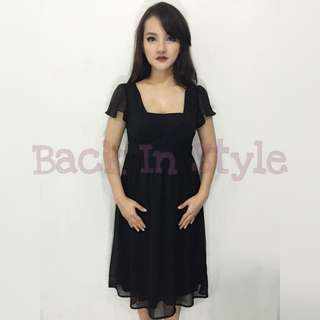 Dress Pesta Hitam / Black Party Dress ROPÉ