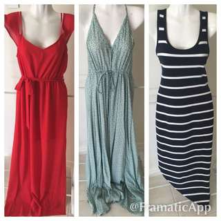 X 3 Dresses To Fit Sz 8 10/10 Cond