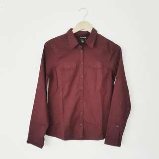 Maroon Shirt By F21