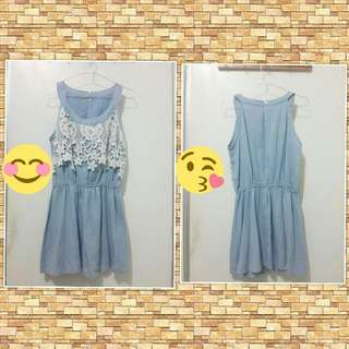 Halter Neck Denim Dress EW-002