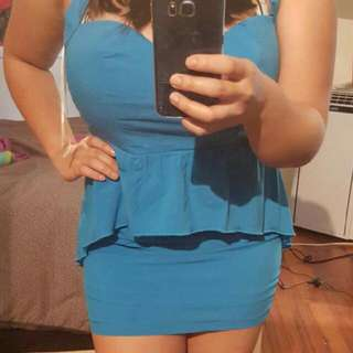 Bright Blue Dress - New With Tags
