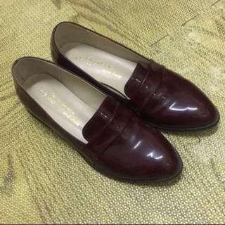 樂福鞋(酒紅色)免運