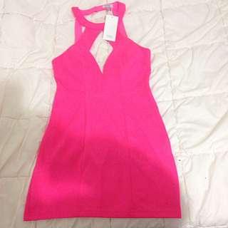 Hot Pink Dress From Tobi