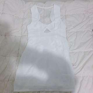 White Mesh Dress From Tobi