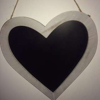 Love Heart Chalk Board