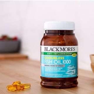 【LADY MOSS澳洲代購】BLACKMORES澳佳寶FISH OIL原味深海魚油1000(400顆入)
