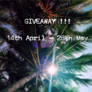 Giveaway Entry 💕
