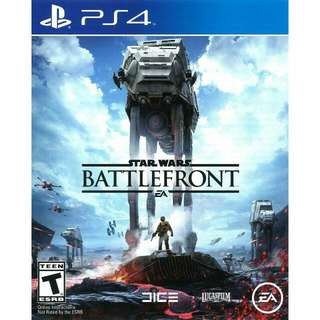 StarWars Battlefront Playstation 4 Game