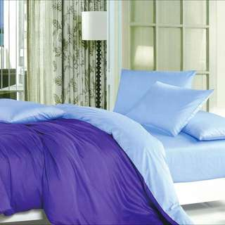 Clearance 600TC Bedsheet 100% Cotton Solid Colour