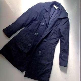 Romeo Bettini Black Double Breasted Trench Coat