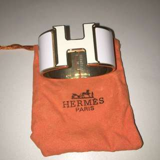 White Hermes Replica Bangle