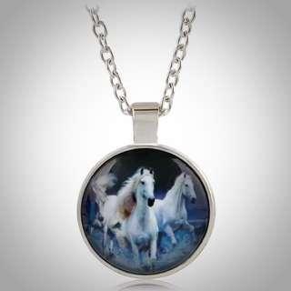 Running Wild Horse Pendant Necklace