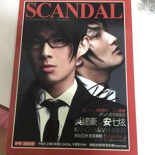 親筆簽名 安七炫 吳建豪 CD 鐵盒