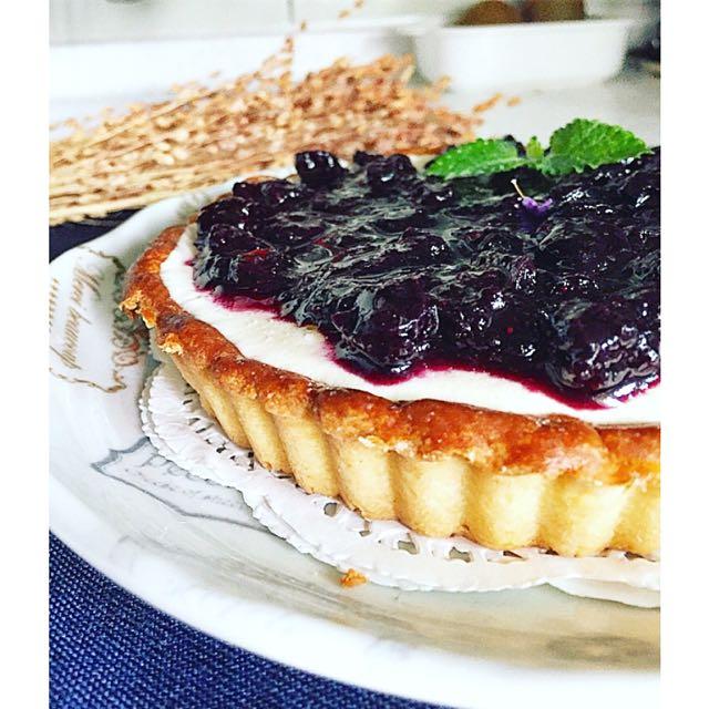 法式藍莓乳酪塔 手工派