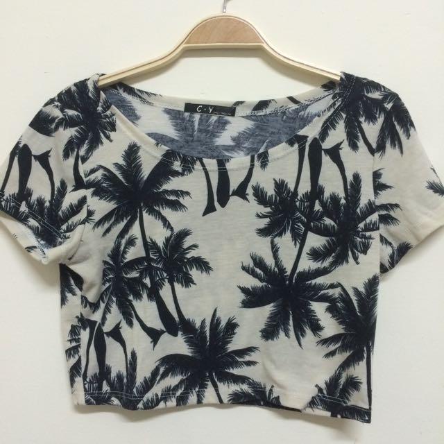 (現貨)椰子樹短版上衣