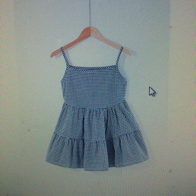細帶小格子洋裝 starmimi購入