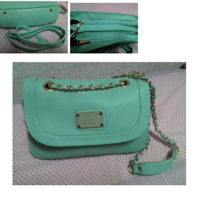 兩用  Tiffany綠 質感 包  可換物
