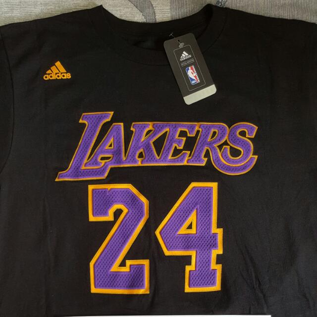 d2e1278d8de Adidas NBA Los Angeles Lakers Game Time Name   Number T-shirt - Kobe ...