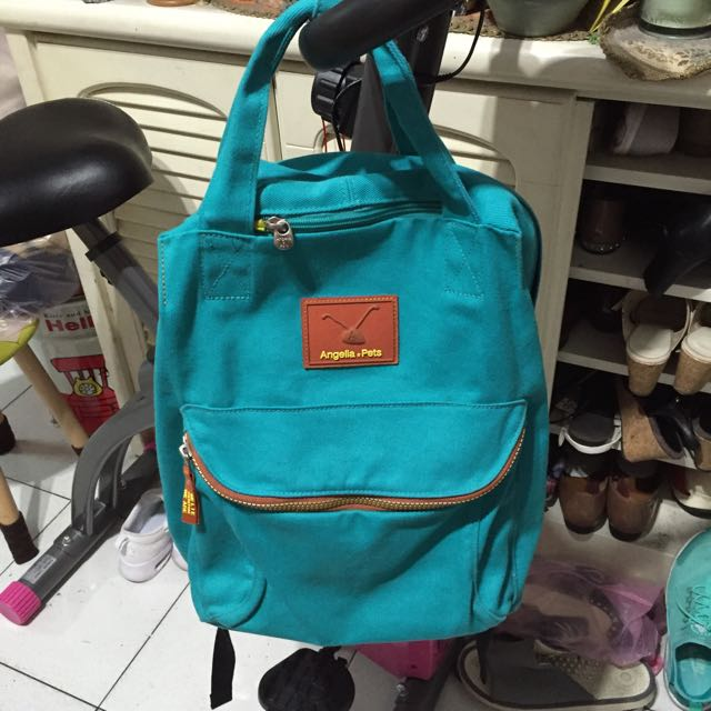 Angelia & Pets 後背包 正品 泰瑞色 藍綠色 湖水綠