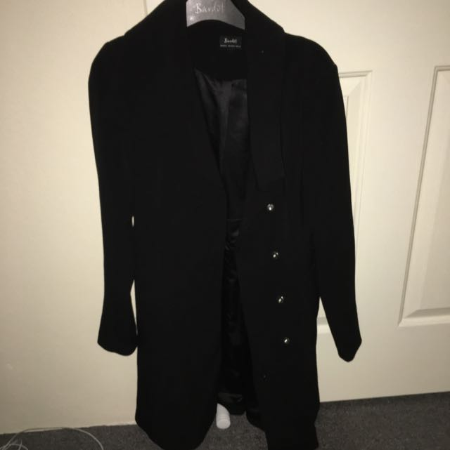 Black Bardot Trench Coat
