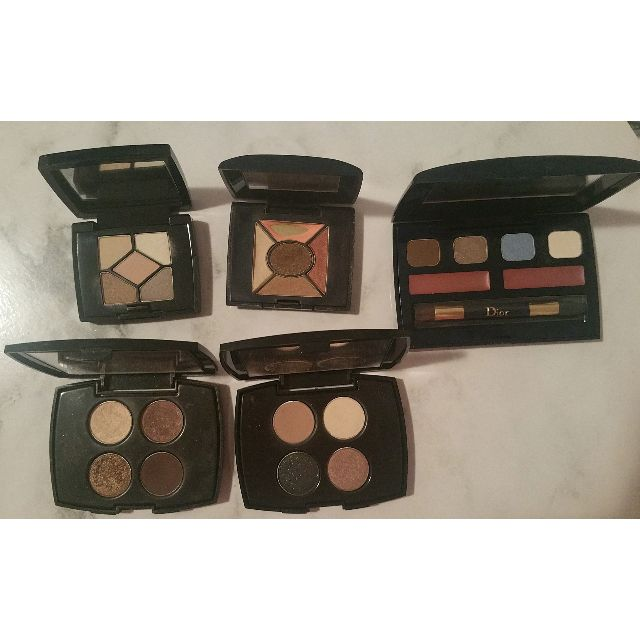 Christian Dior & Lancome Mini eye-shadow palettes