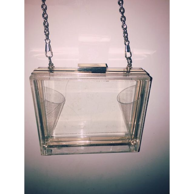 Clear Hard Case Clutch Shoulder Bag