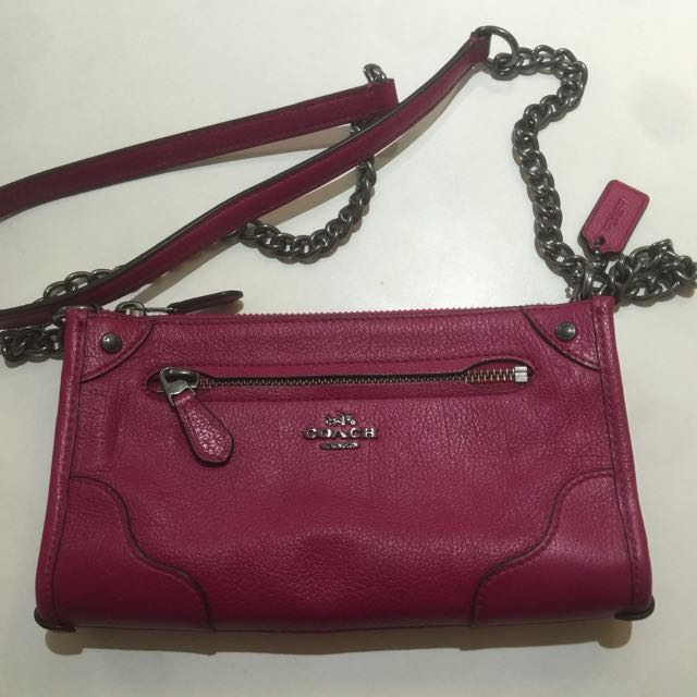 Coach Authentic BNWT Pink Cranberry Crossbody