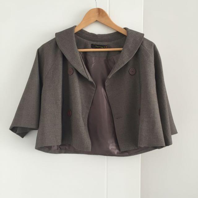 Cropped Swing Jacket Size 7