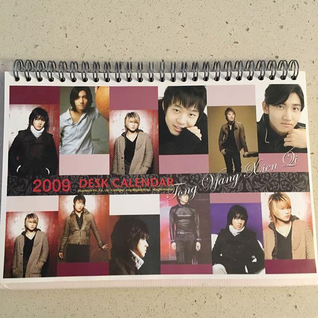 DBSK Desk Calendar