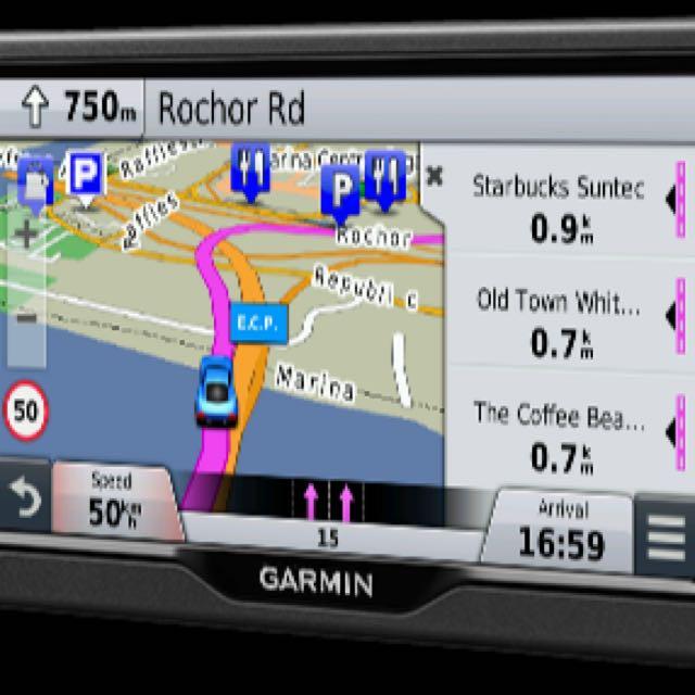 Garmin 67LM Car 6inch Navigation GPS With Foursquare + SINGAPORE MALAYSIA  MAPS - Free Lifetime Updates