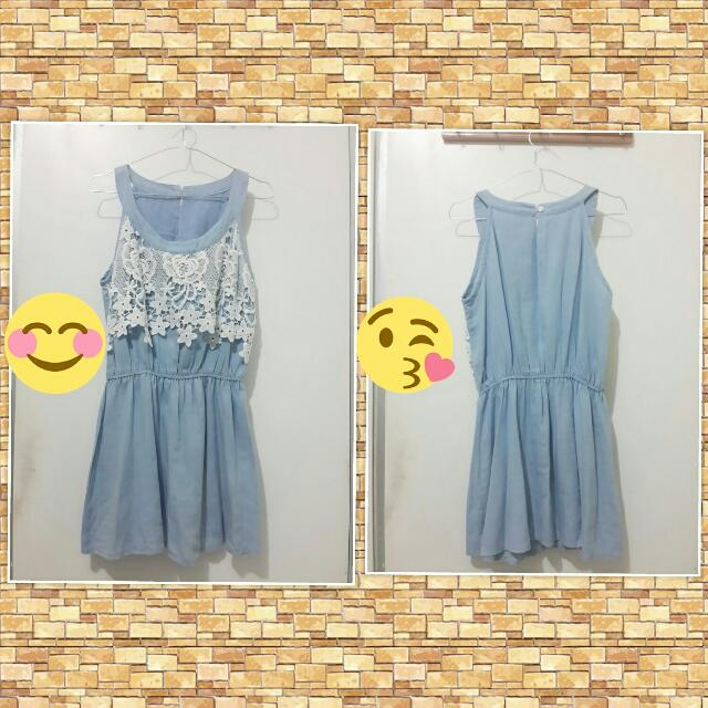 Halter Neck Denim Dress EW-002