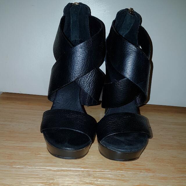 Kookai Leather Wedges