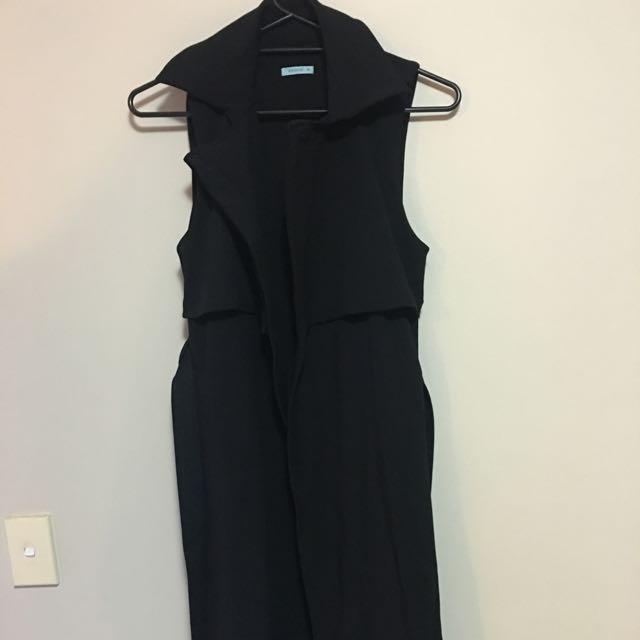 kookai vest black
