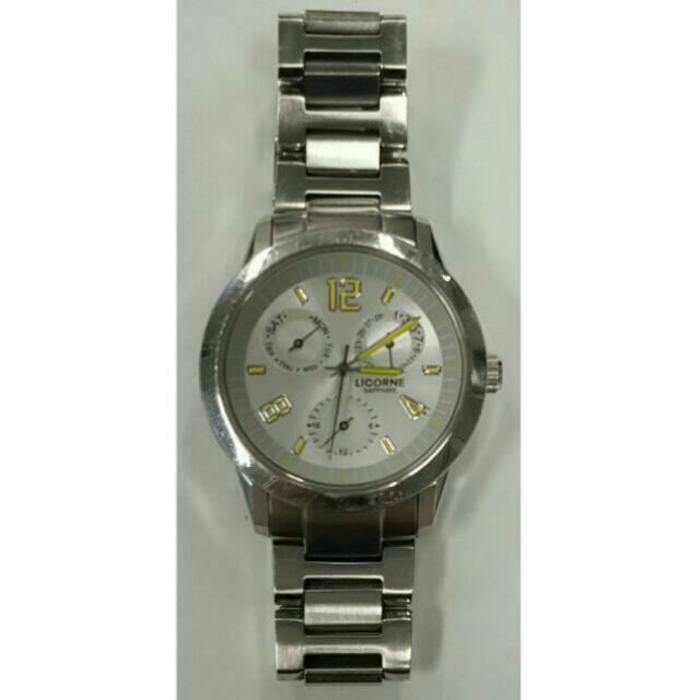 Licorne 力抗錶 三眼 手錶