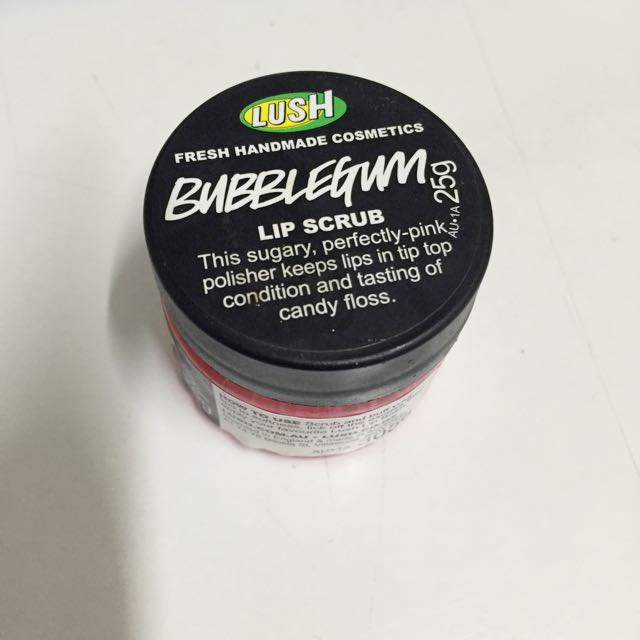 Lush bubble gum lip scrub