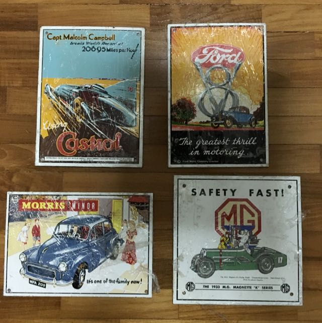 Metal Wall Decor Garage Display Vintage Collectibles On Carousell