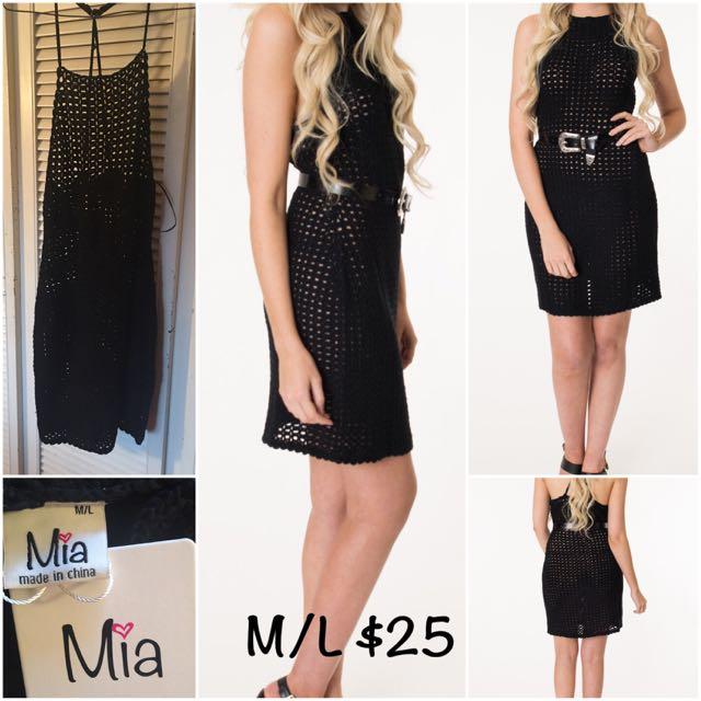 Mia Crochet Dress