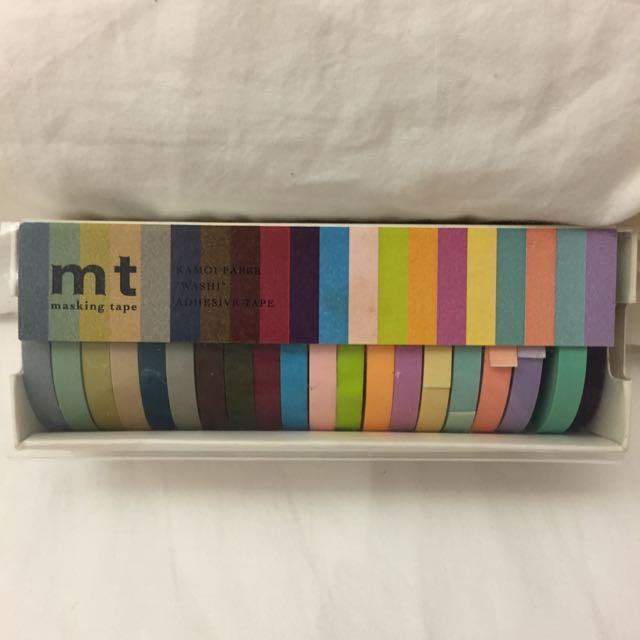 絕版MT 素色紙膠帶 20色