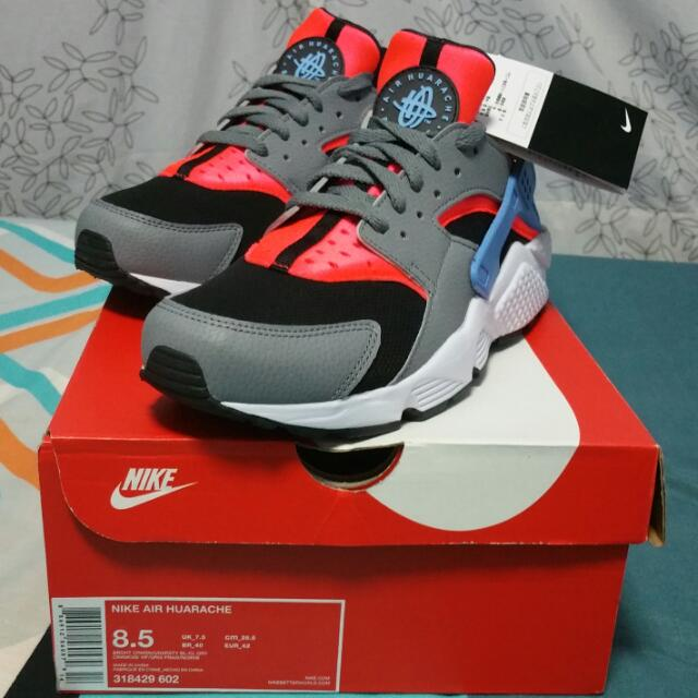 size 40 5c9fd 7e09f Nike Air Huarache Bright Crimson University Blue Cool Grey   Sale Or Swap,  Men s Fashion on Carousell