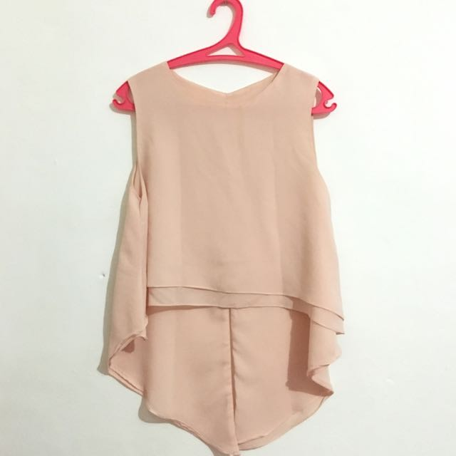 Peach Asymmetric Top
