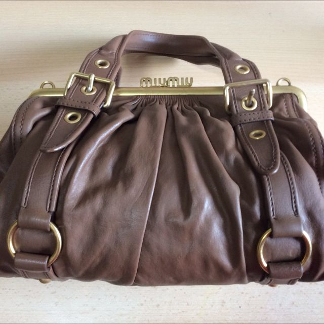 a8b9bbcd4cf637 Rare Miu Miu Vintage Feel Top Handle Bag, Luxury on Carousell