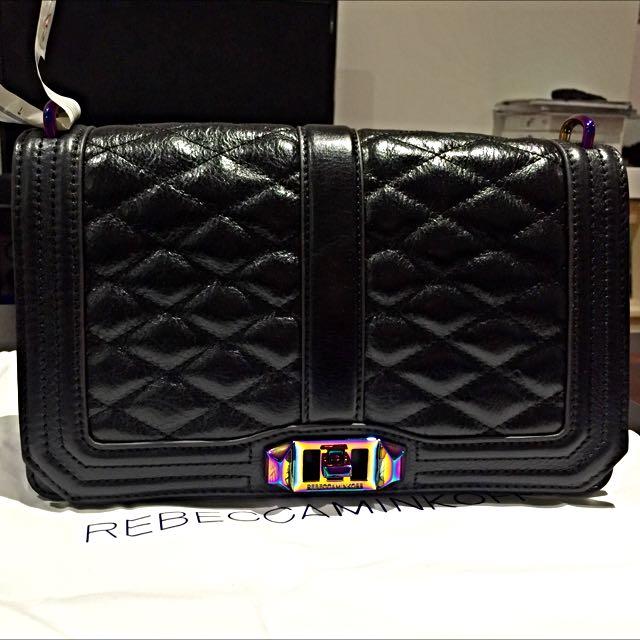 Rebecca Minkoff Love Crossbody Bag Oil Slick Hardware
