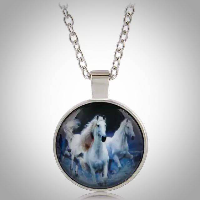 Running Wild Horse Pendant Necklace