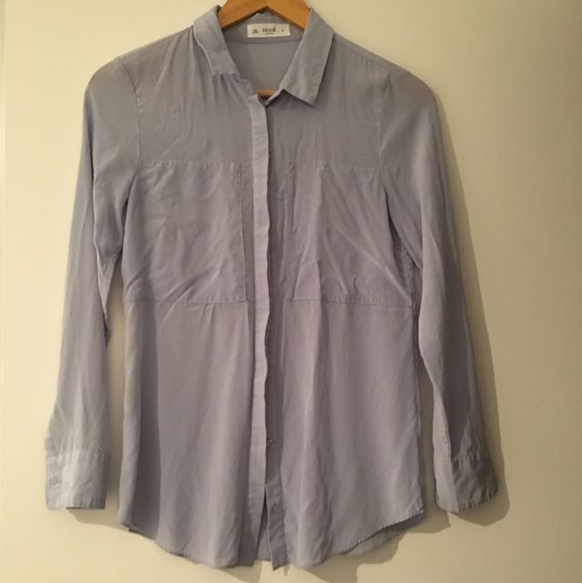 Seed 100% Silk Blouse Size 6