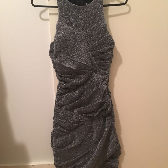 Sparkle Night Dress (Dark grey/Silver)